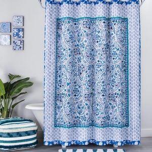 OPALHOUSE Bandana Print Shower Curtain Blue